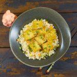 Тофу в апельсиновом соусе с рисом