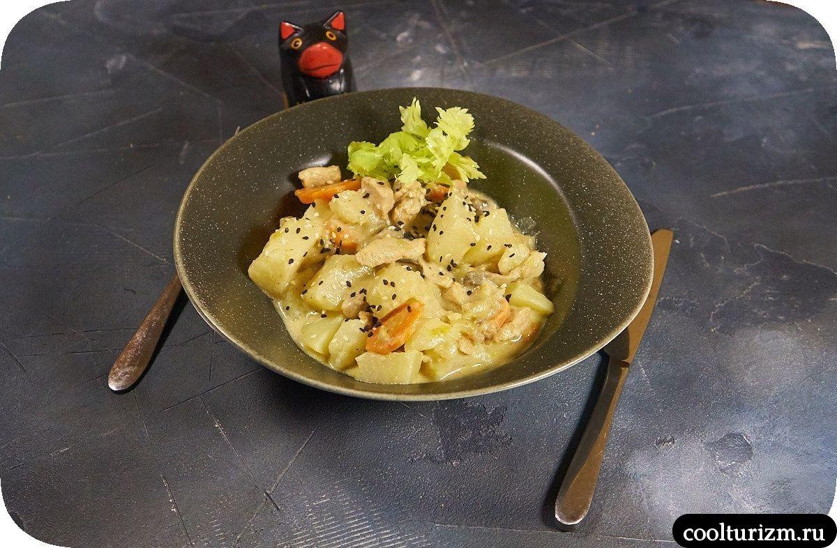 Рецепт вешенки с картошкой и курицей пошагово