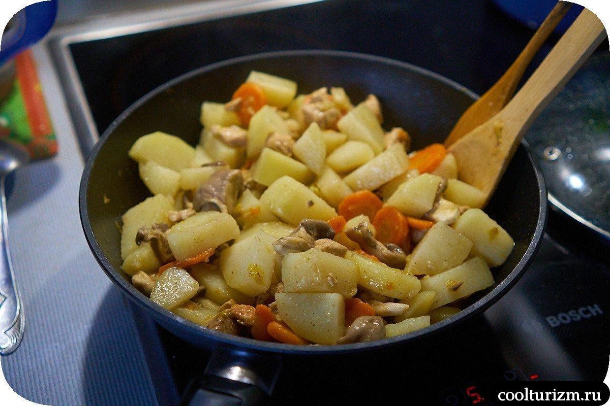 Рецепт вешенки с картошкой