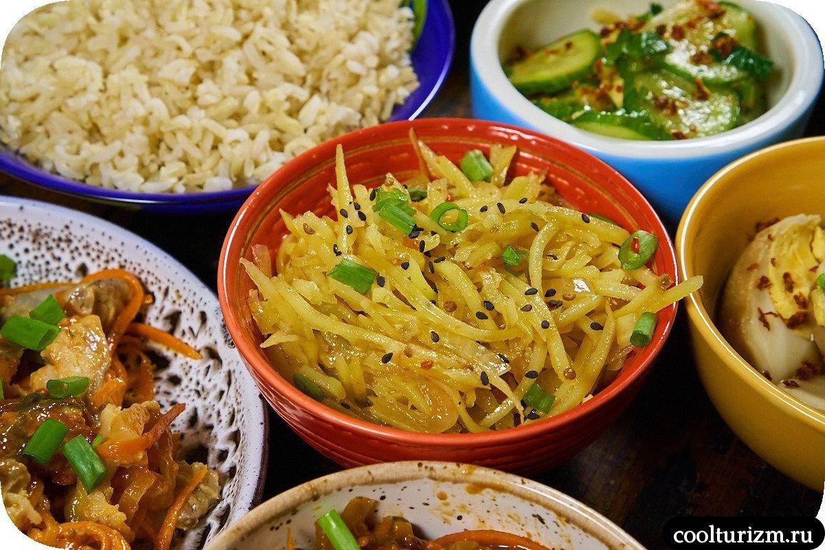 Корейский салат из картофеля