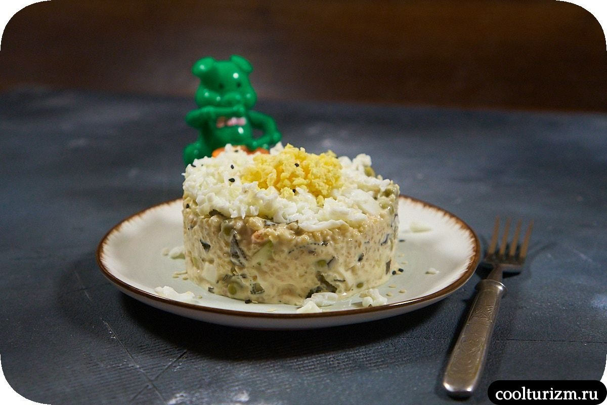 Салат с тунцом и креветками