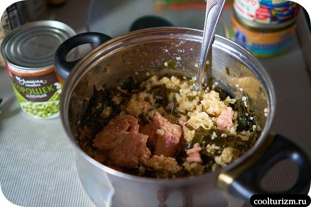 Салат с тунцом и креветками рецепт
