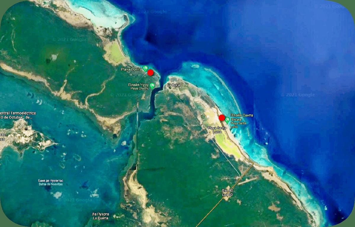 Пляж Playa Bonita Куба карта