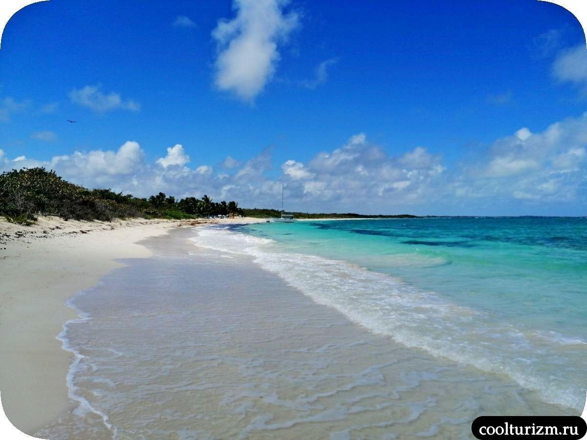 Пляж Бонита на острове Кайо Сабиналь,Куба