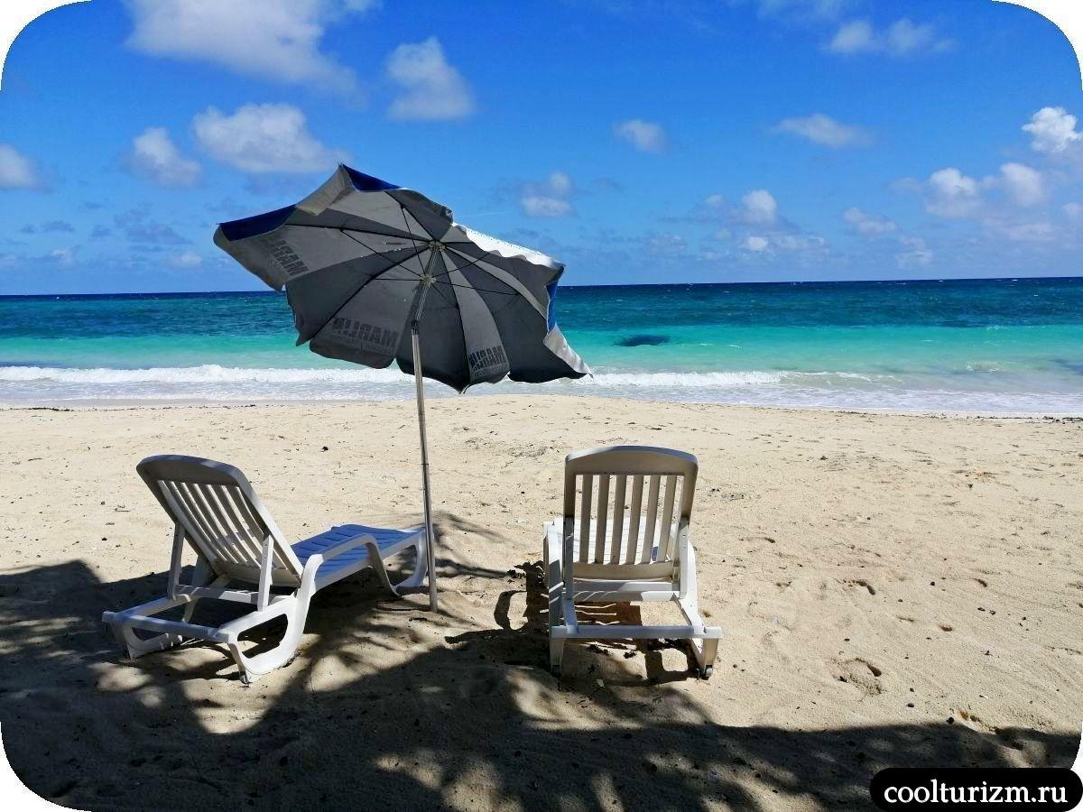Пляж Бонита на берегу Кайо Сабиналь,Куба март