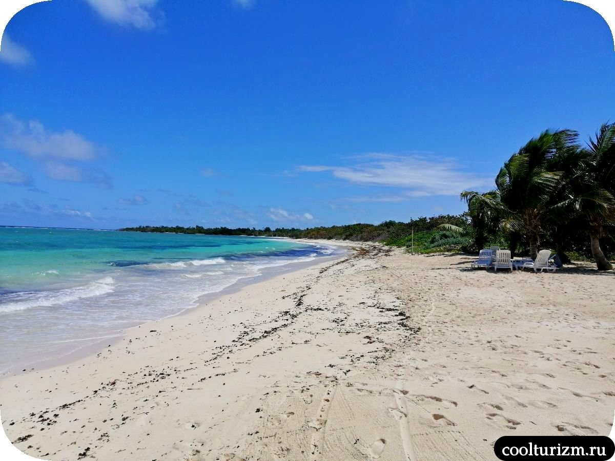 Пляж Бонита на берегу Кайо Сабиналь,Куба, северо-восток
