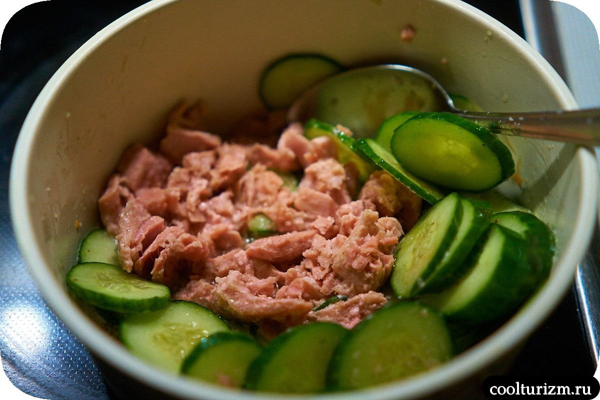 Рецепт салата из тунца консервированного