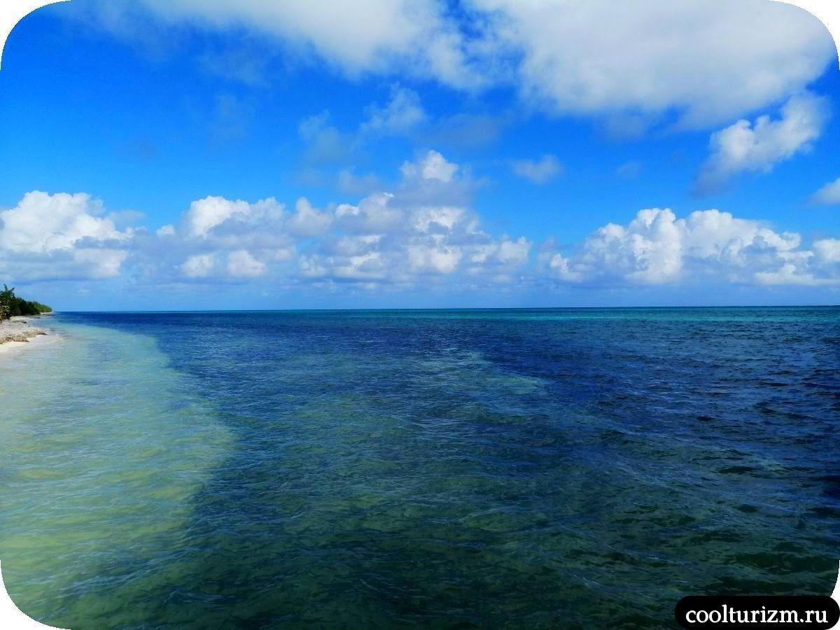 Пляж Playa Bonita Куба причал Санта Лусии