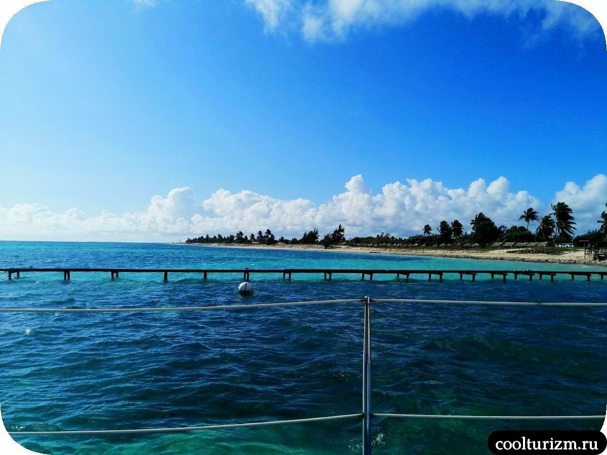 Пляж Playa Bonita Куба экскурсия на катамаране