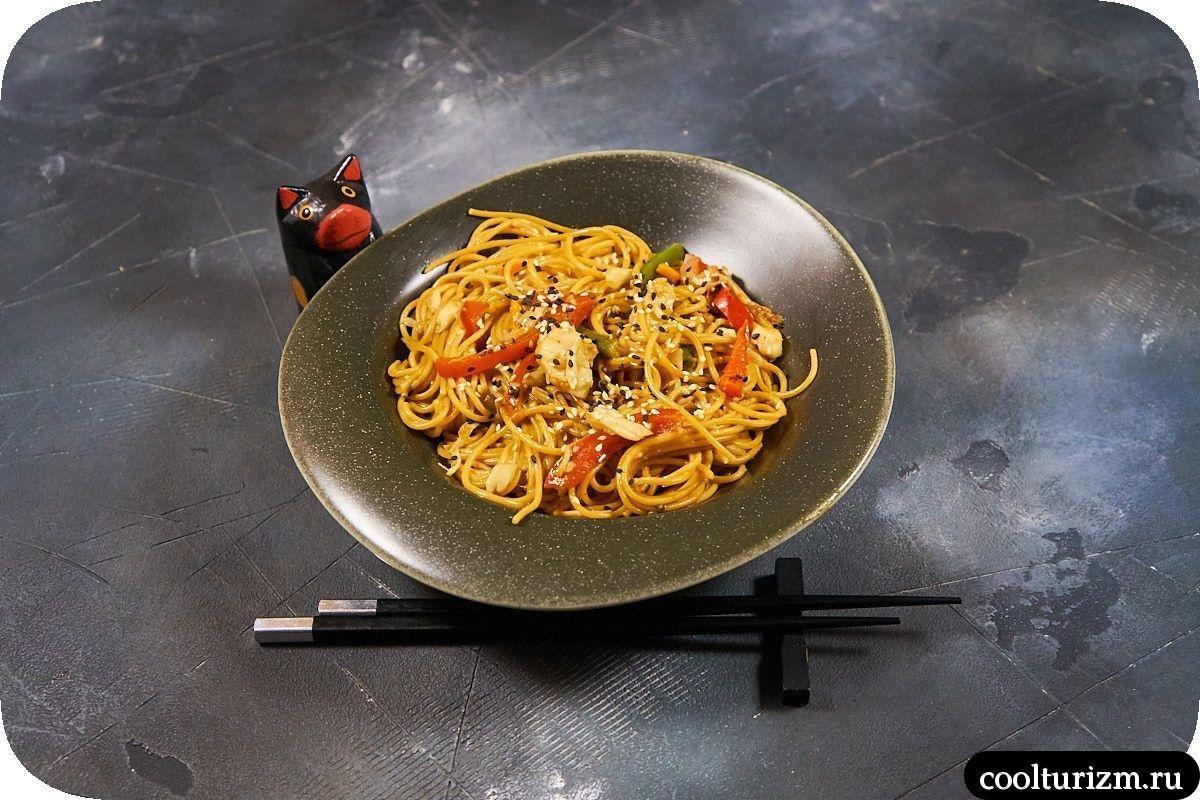 Цельнозерновые спагетти со щечками трески простой рецепт