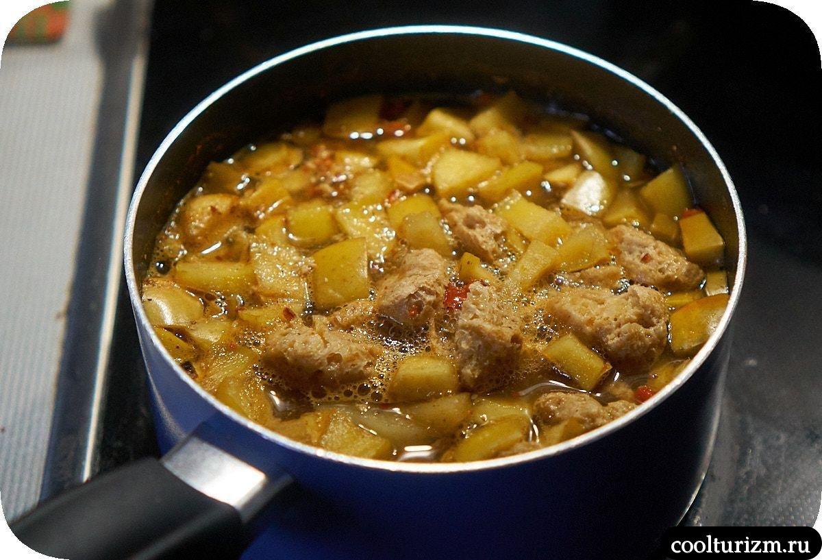 Суп с яблоками рецепт