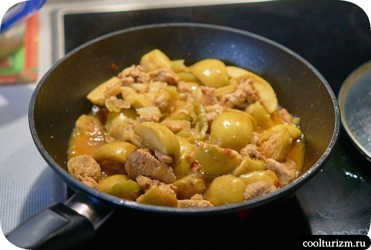 Филе индейки с яблоками как приготовить