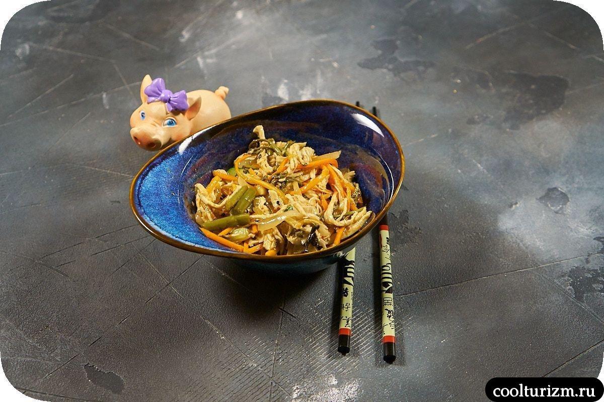 Азиатский салат с папоротником как приготовить