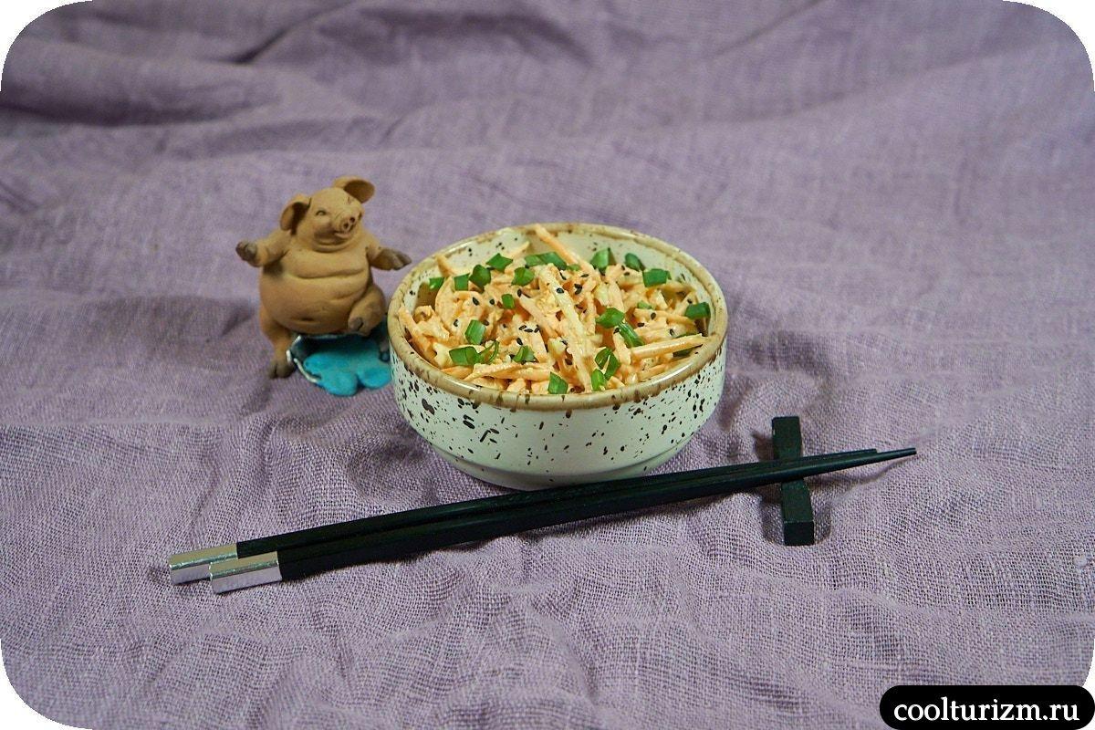 Вкусный салат из свежей моркови с майонезом пошагово