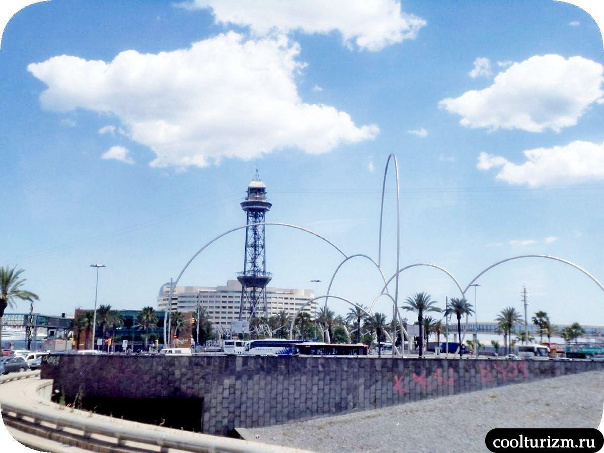 скульптура Волны Барселона башня Хайме 1-го