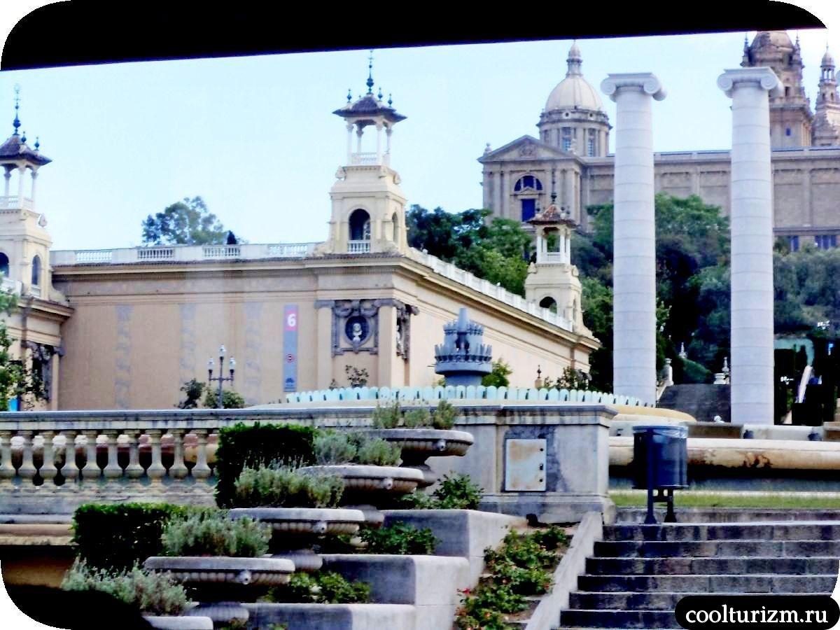 Гора Монжуик в Барселоне музей искусств и волшебный фонтан