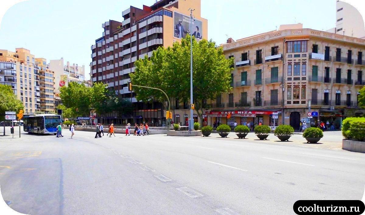 Площадь Испании в Пальме де Майорке