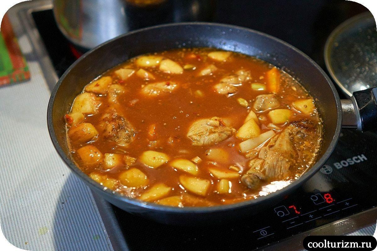 Рецепт карри с курицей и рисом в соусе