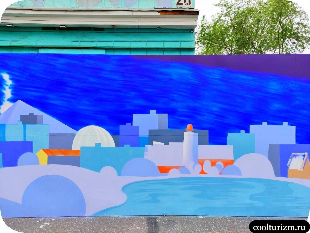Граффити Мурманск Семеновское озеро