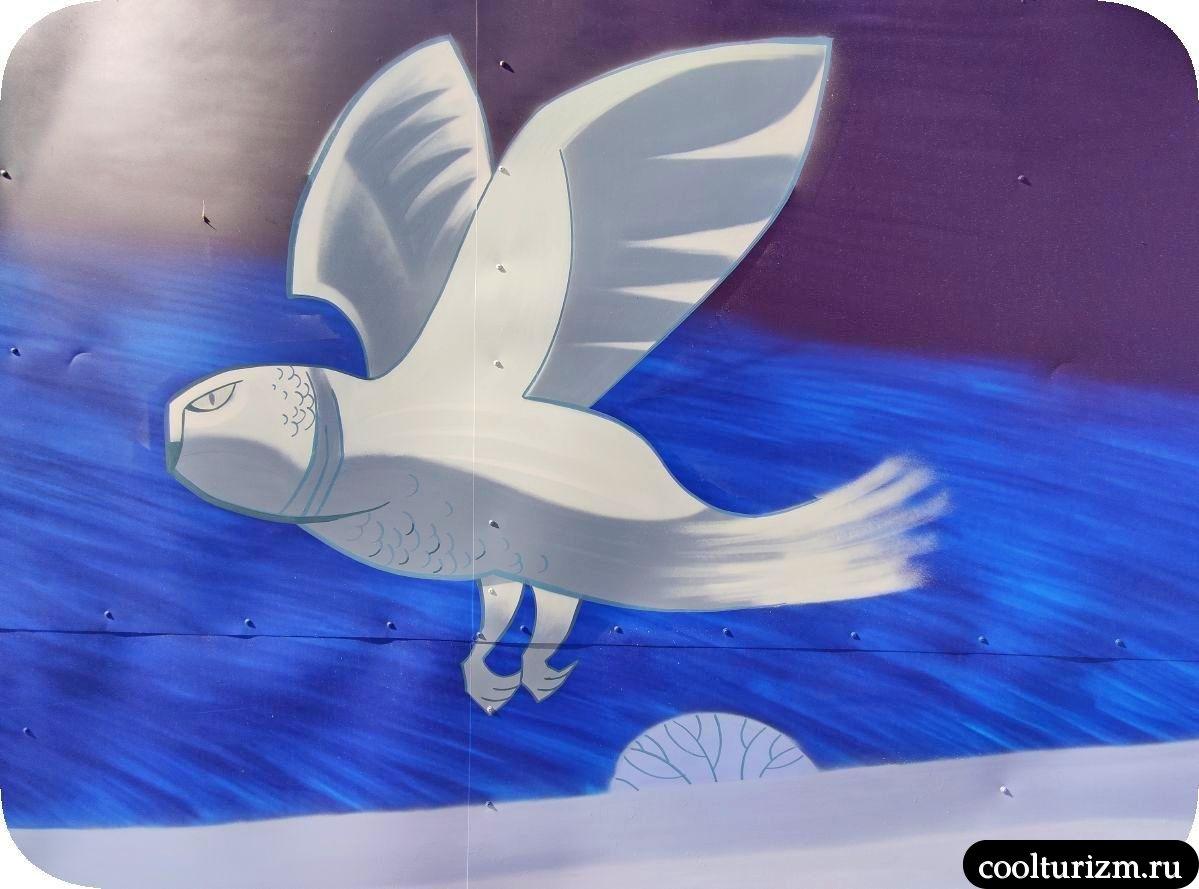 Граффити Мурманск сова