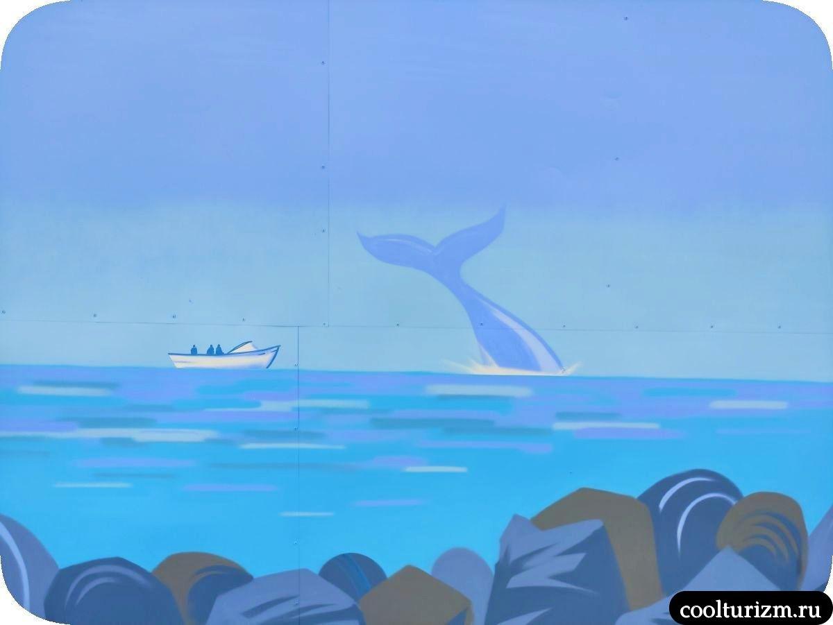 Граффити Мурманск Териберка кит