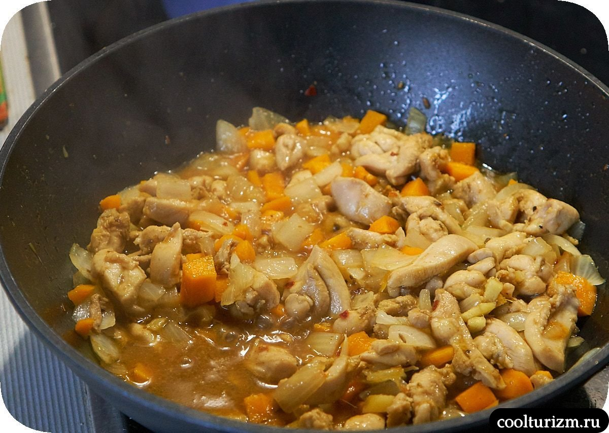 Китайский плов с курицей