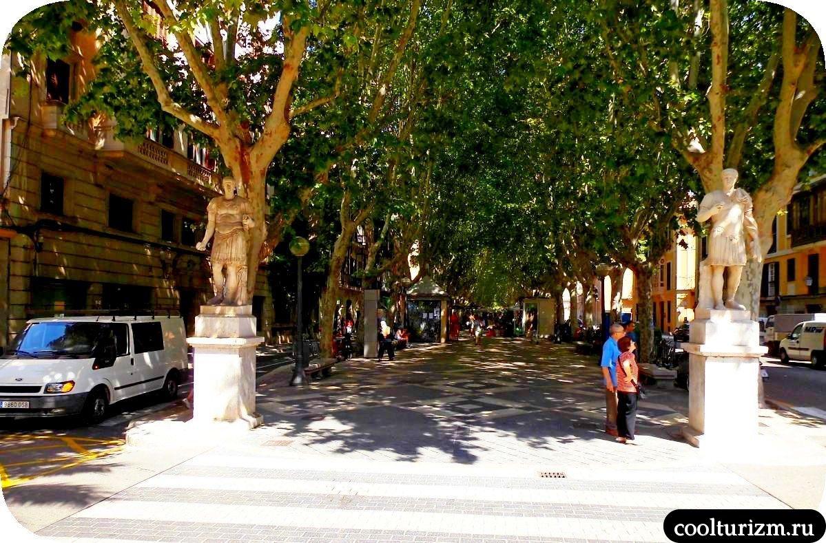 бульвар Рамбла в Пальме де Майорке