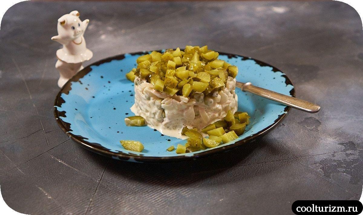 Салат из кальмара с майонезом