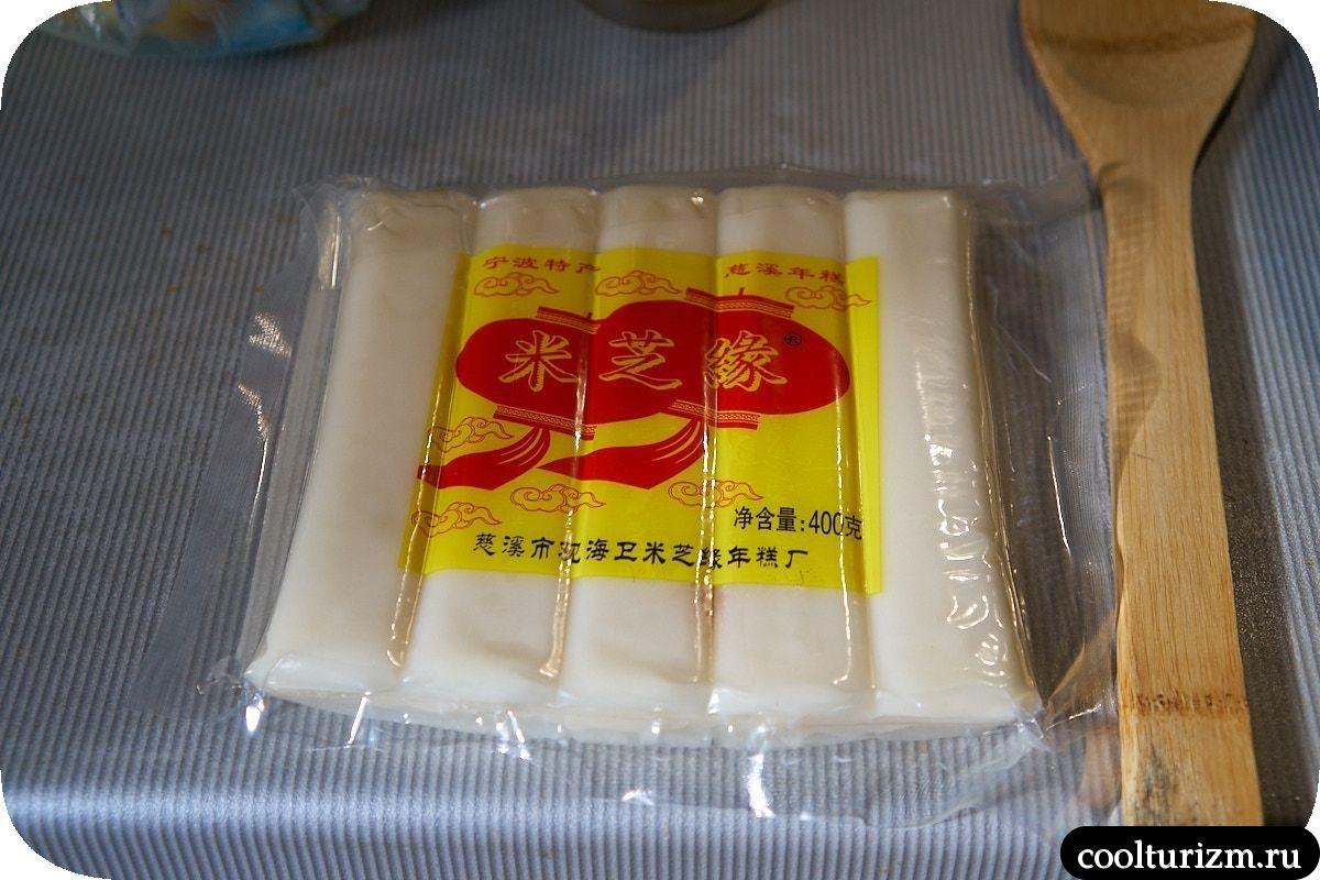 Сладкие токпокки с изюмом китай