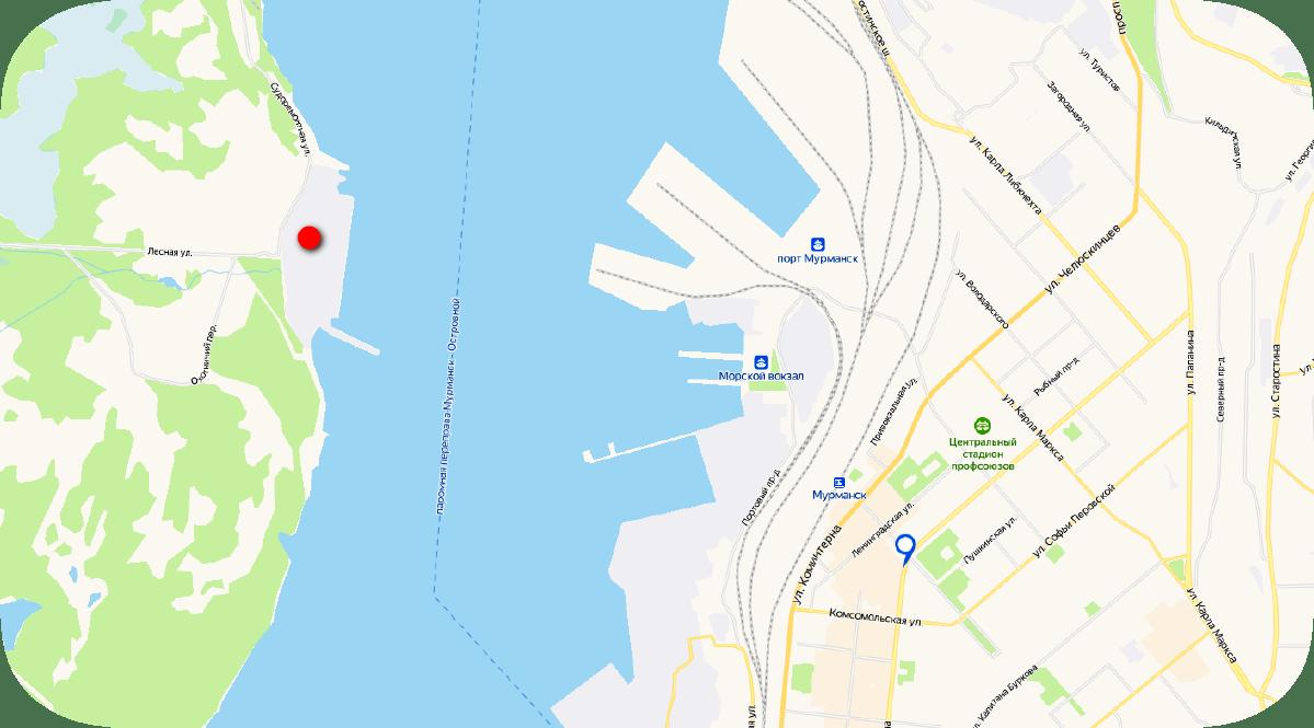 Абрам-мыс Мурманск на карте