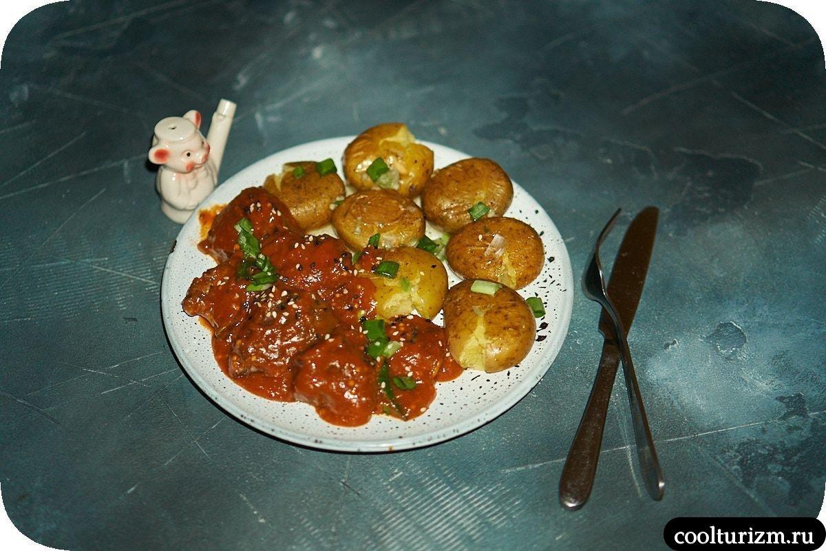 Печень индейки в томатном соусе