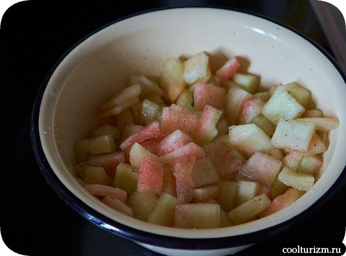 Кимчи из арбузных корок реуепт