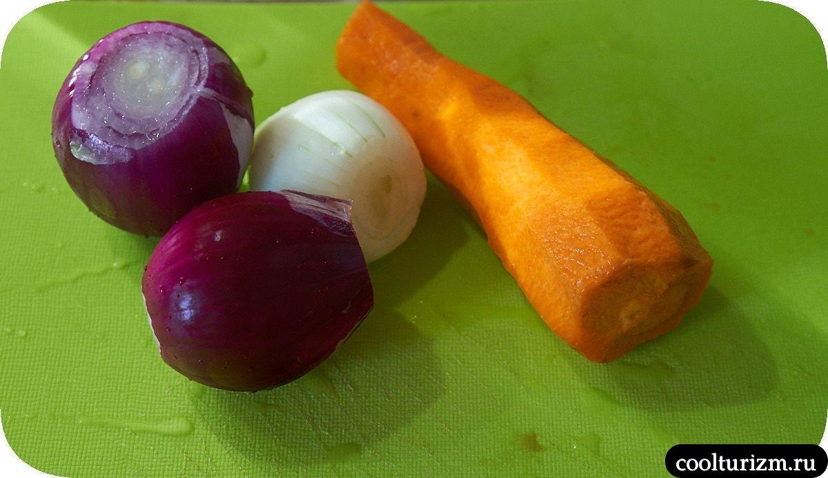 Плов из девзиры с овощами и мясом