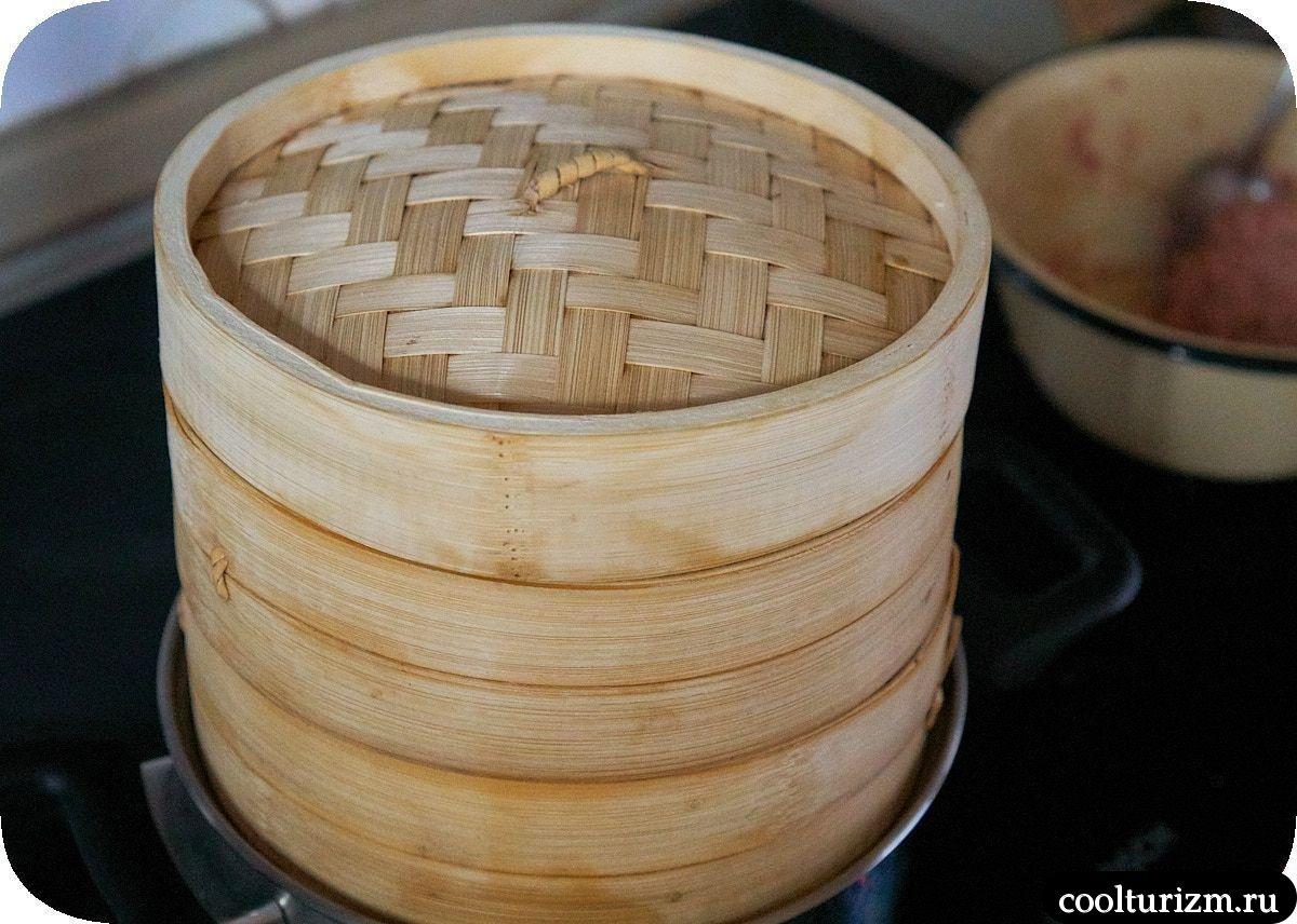 Китайские паровые пельмени в пароварке