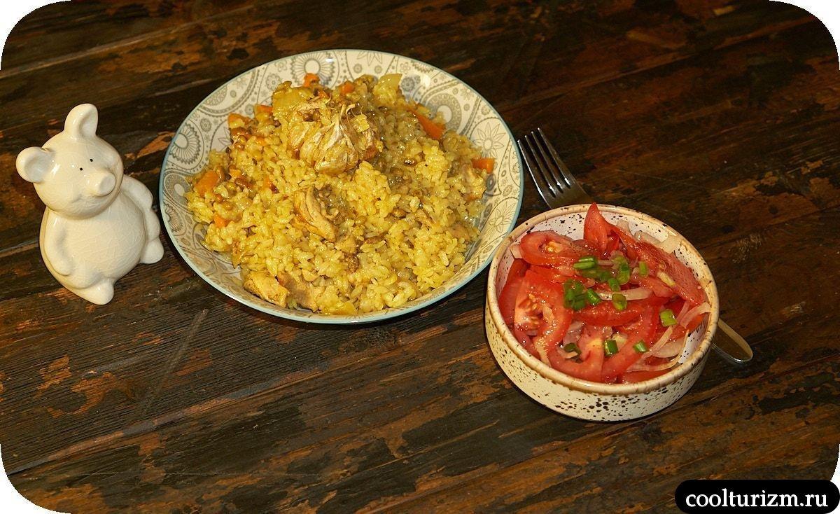 Плов из филе курицы простой рецепт с машем