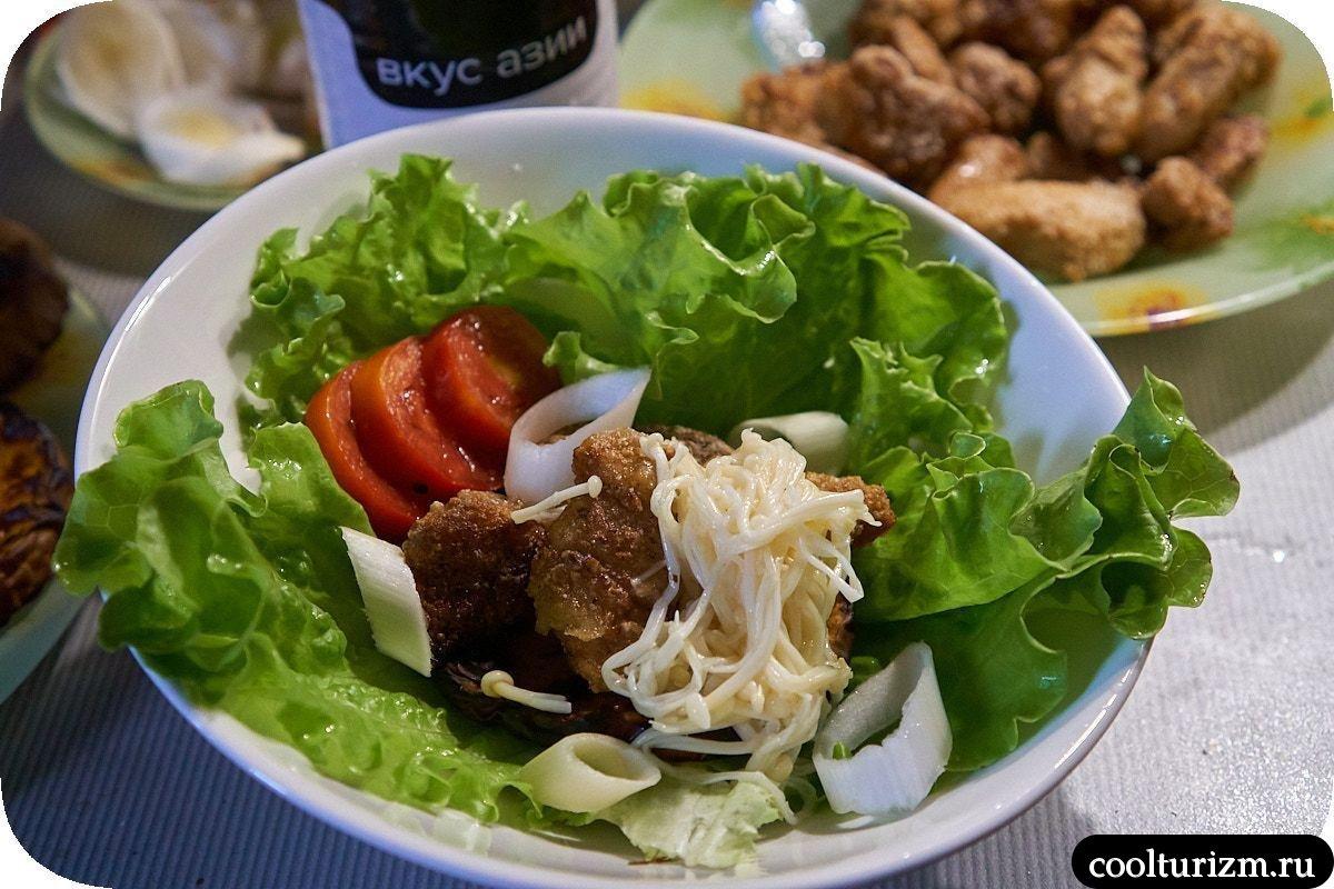 Салат с жареным мясом и тыквой рецепт