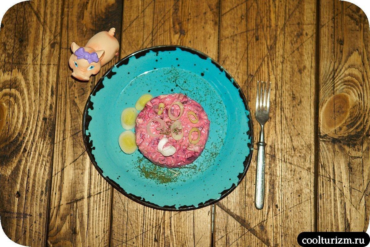 Салат со свеклой и селедкой с кимчи рецепты