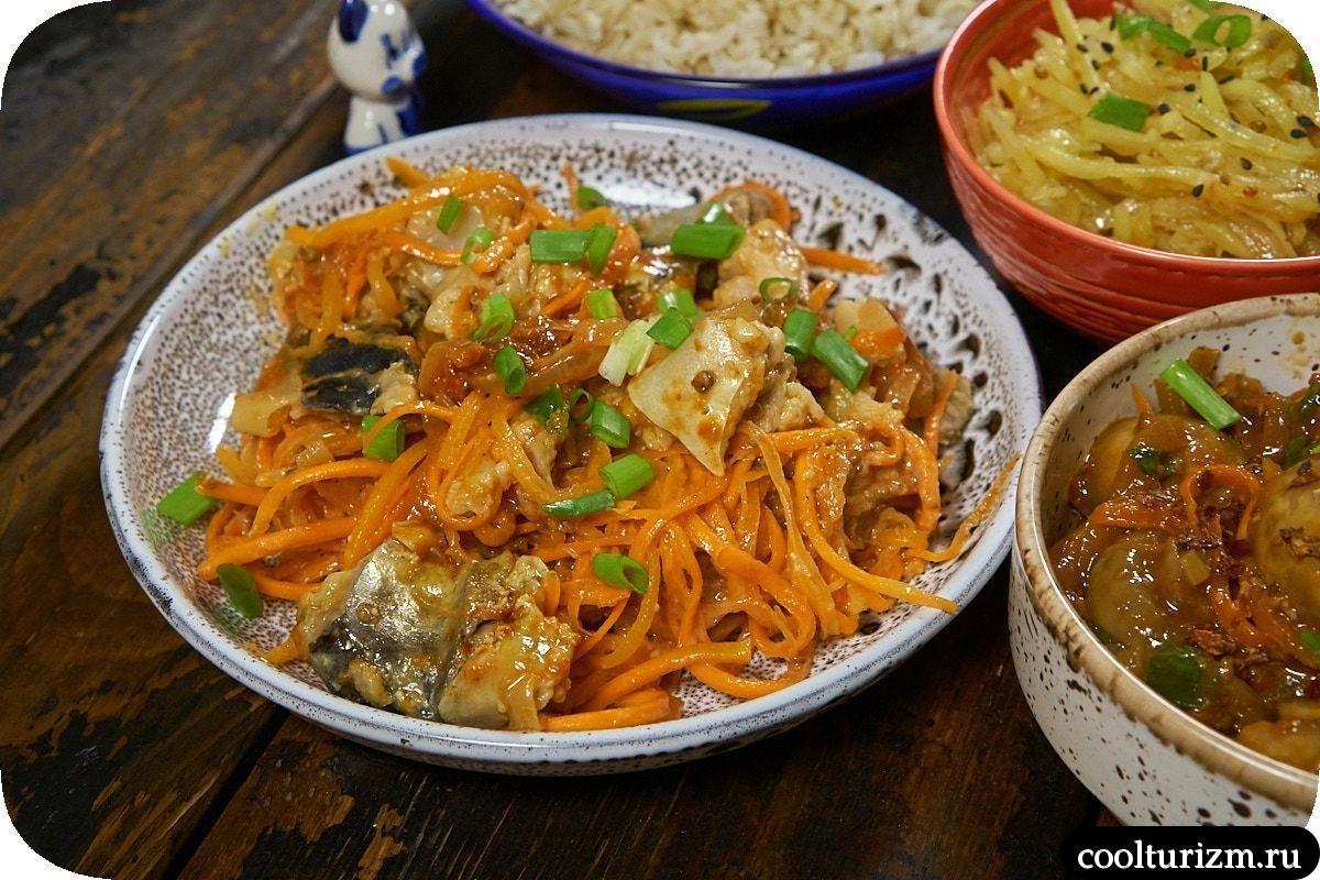 Хе из скумбрии по-корейски простой рецепт